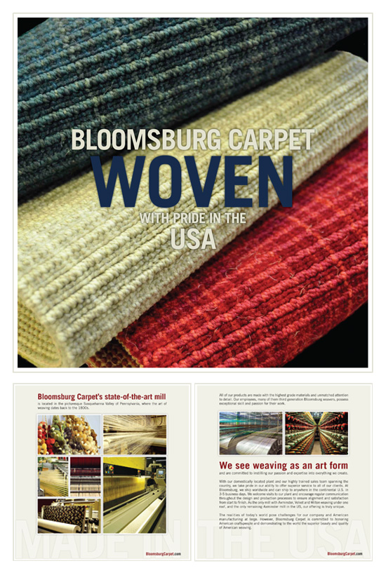"Bloomsburg Carpet → ""Made in the USA"" Brochure → more…"