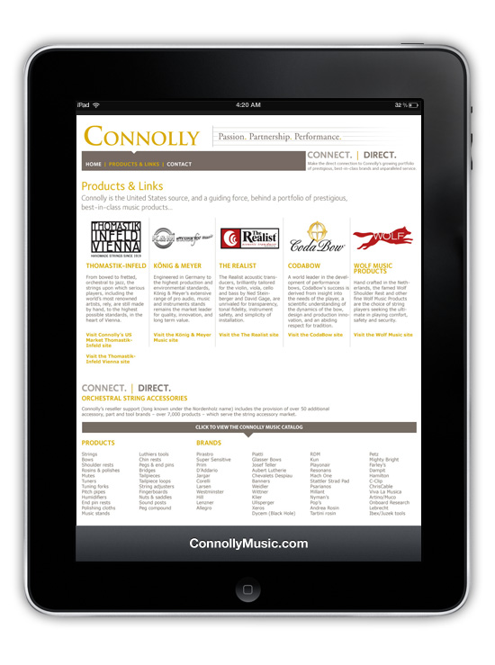 ConnollyMusic.com → Website Design & Development → more…