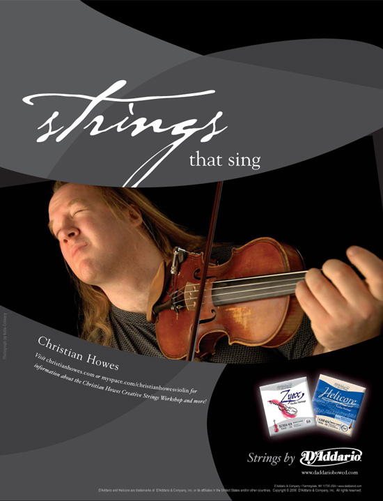 "D'Addario → ""Strings That Sing"" Advertising Campaign → more…"