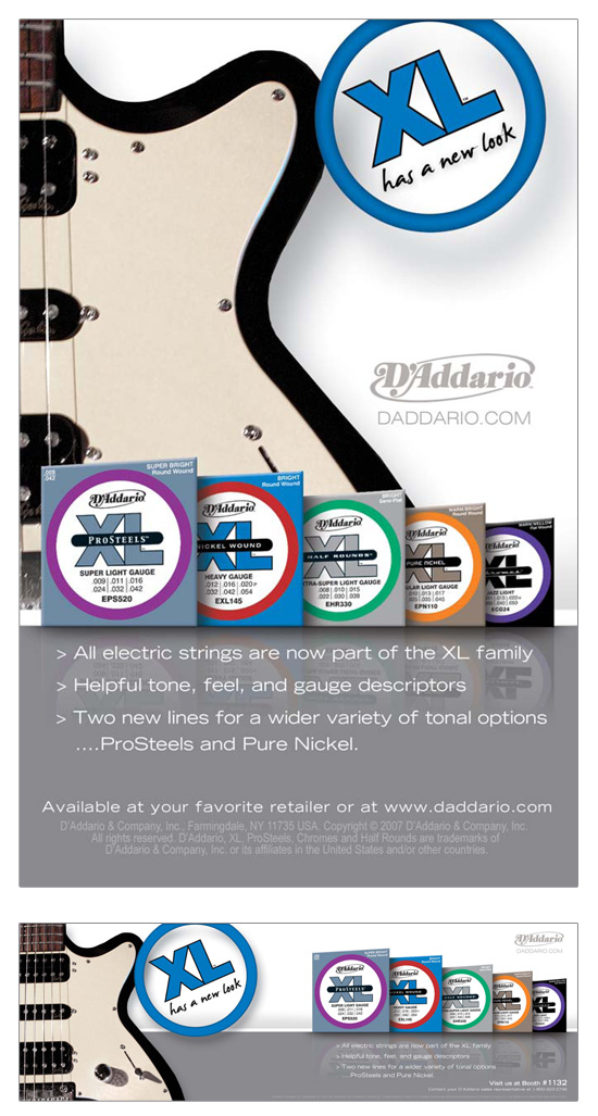 "D'Addario → ""XL New Look"" Advertising Campaign → more…"
