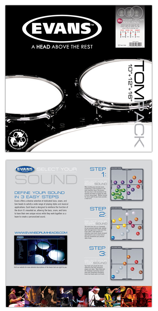 Evans Drumheads → Package Design → more…