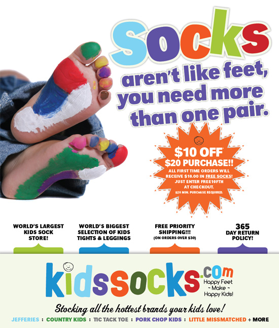 Kidssocks.com → Advertising Campaign → more…