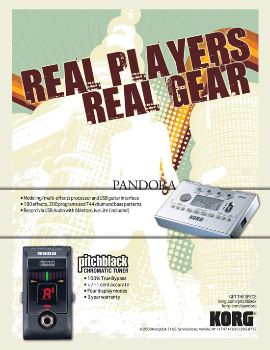 "Korg → ""Real Players. Real Gear."" Advertising Campaign → more…"