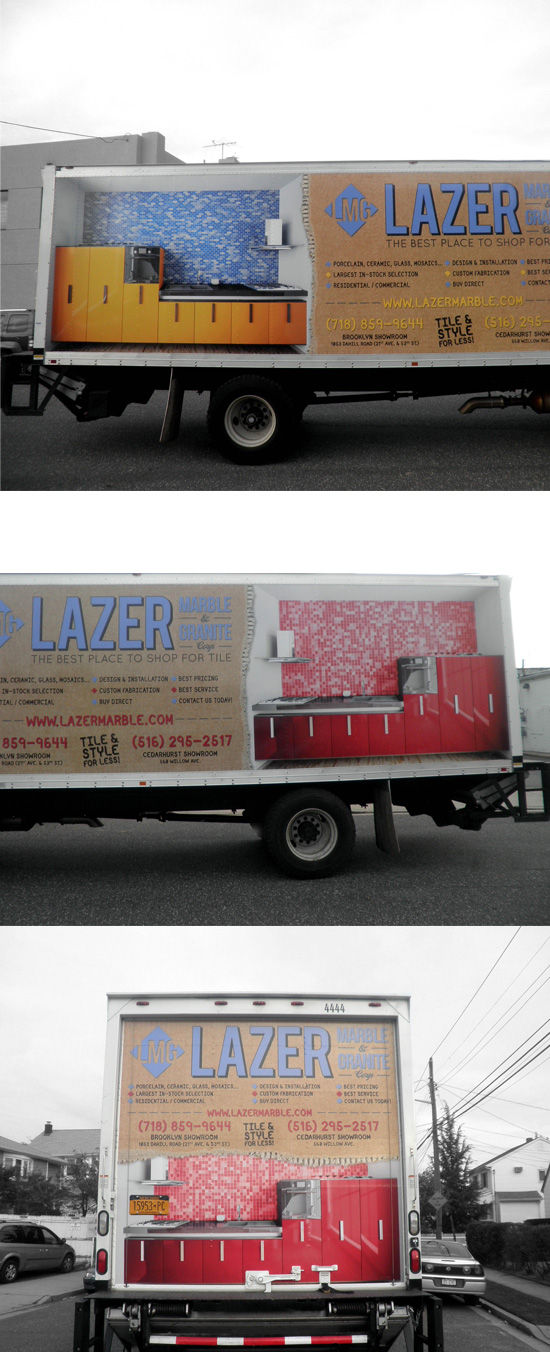 Lazer Marble & Granite Truck Wrap → more…