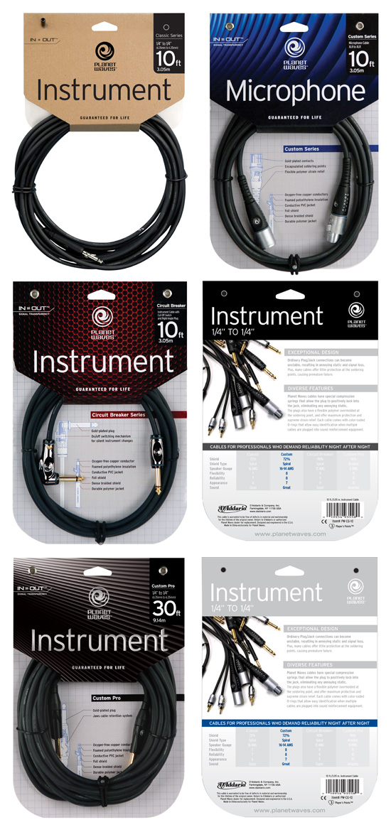 Planet Waves Cables → Package Design → more…