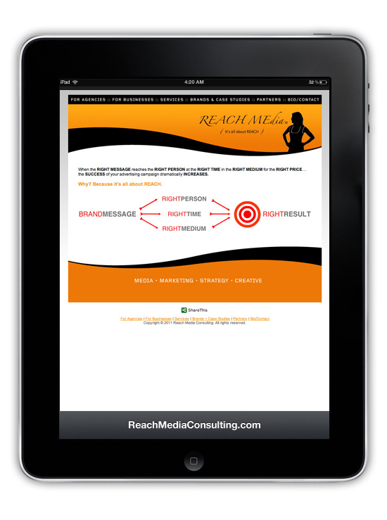 ReachMediaConsulting.com → Website Design & Development → more…