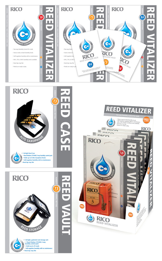 Rico Reeds Reed Vitalizer → Package Design → more…