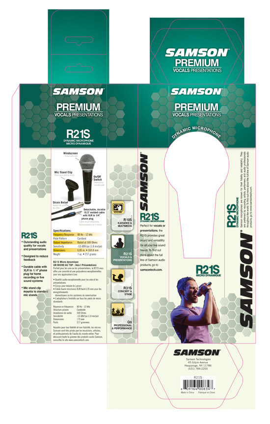 Samson → Microphone Package Design → more…