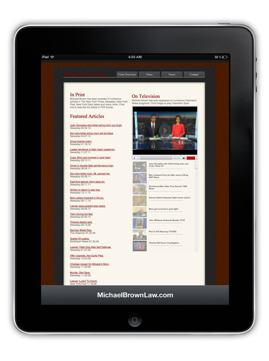 MichaelBrownLaw.com → Website Design & Development → more…