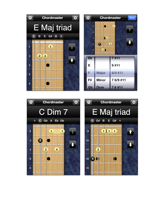 Chordmaster™ → Planet Waves iPhone / iPad App → more…